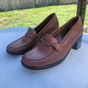 "EUC Bass Brown Leather Loafers Sz 8m ""pattie"""